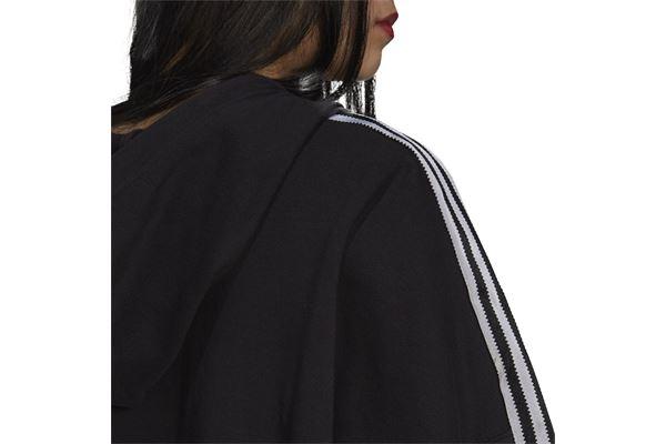 Felpa Donna Adidas Hoodie Adicolor Classics Satin Tape Cropped ADIDAS ORIGINALS | 92 | H37812-