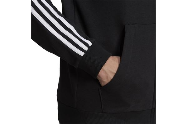 Felpa con Cappuccio Adidas Essentials French Terry 3 Stripes FullZip ADIDAS PERFORMANCE | 92 | GK9032-