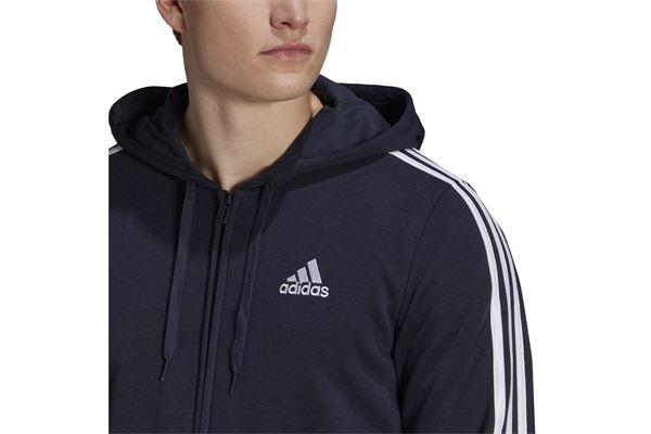 Felpa Adidas con Cappuccio Essentials French Terry 3-Stripes Full-Zip ADIDAS PERFORMANCE | 92 | GK9033-