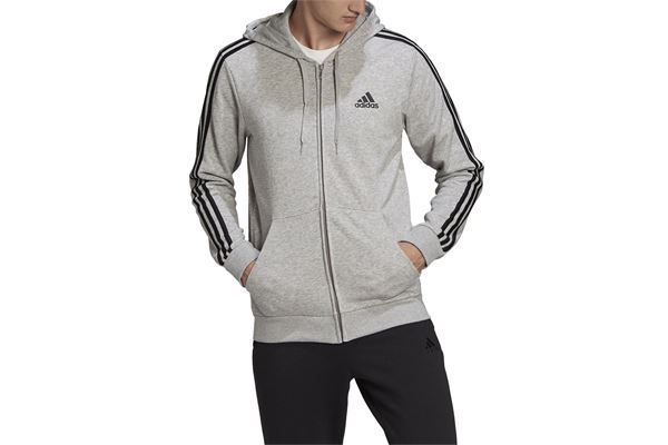 Felpa Adidas  con Cappuccio Essentials French Terry 3-Stripes Full-Zip ADIDAS PERFORMANCE | 92 | GK9034-