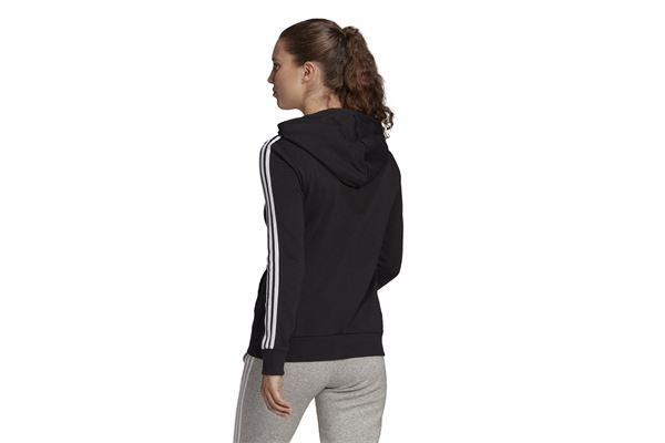 Felpa adidas con cappuccio Essentials French Terry 3-Stripes Full-Zip ADIDAS PERFORMANCE   92   GL0792-