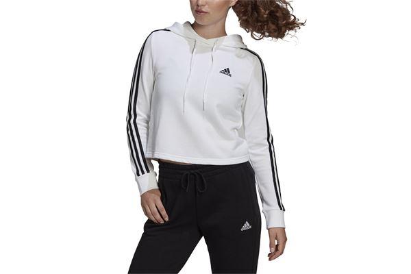 Felpa donna Adidas Hoodie Essentials 3-Stripes Cropped ADIDAS PERFORMANCE | 92 | GM5574-