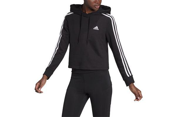 Felpa donna Adidas Hoodie Essentials 3-Stripes Cropped ADIDAS PERFORMANCE | 92 | GM5582-