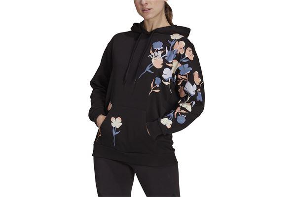 Felpa donna Adidas Floral Hoodie ADIDAS PERFORMANCE | 92 | GT8817-