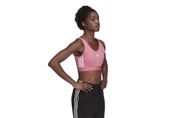 Top corto da donna Adidas Essentials 3-Stripes With Removable Pads ADIDAS PERFORMANCE   40   H10189-