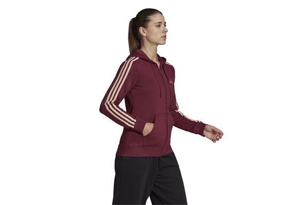 Felpa con cappuccio da donna Adidas  Essentials French Terry 3-Stripes Full-Zip ADIDAS PERFORMANCE   92   H59088-