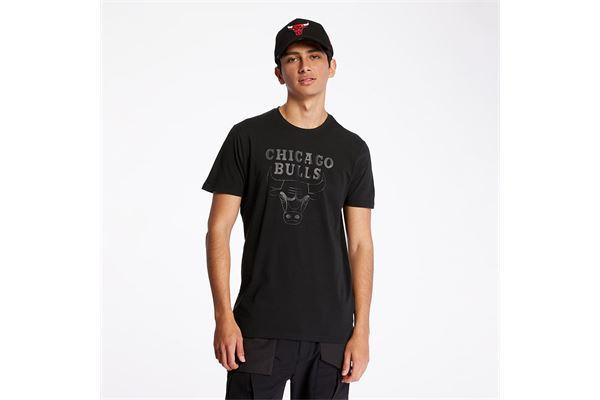 T-Shirt New Era Team Logo dei Chicago Bulls NEW ERA | -89515098 | 11546155BLKBLK