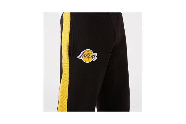 Pantaloni New Era da Jogging neri a righe con Logo della Squadra Nba dei Lakers NEW ERA   115   12827206BLK
