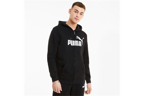 Felpa puma con zip integrale e logo grande Essentials PUMA | 92 | 586698001