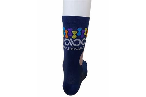 Calze ABC Boobs ABC ANACLERICO SPORT BYKE CLUB | 33 | BOOBSSOCKBLU