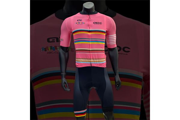 Completo da Ciclismo ABC Fuxia Stripes 21 Ale