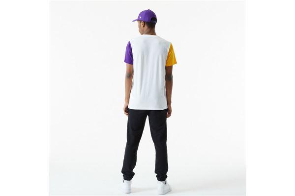 Maglia LA Lakers Colour Block Sleeve New Era NEW ERA | -89515098 | 12553340WHIADG