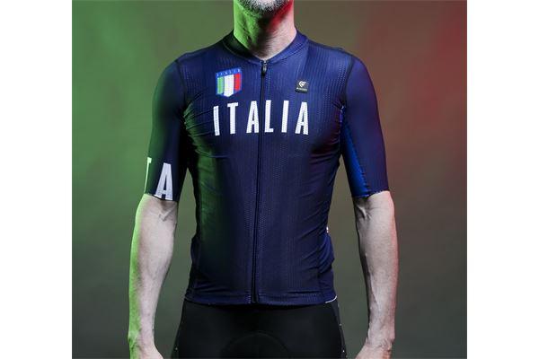 Maglia da ciclismo Pissei MC Sanremo Italia PISSEI | 270000045 | SANITAJERBLU