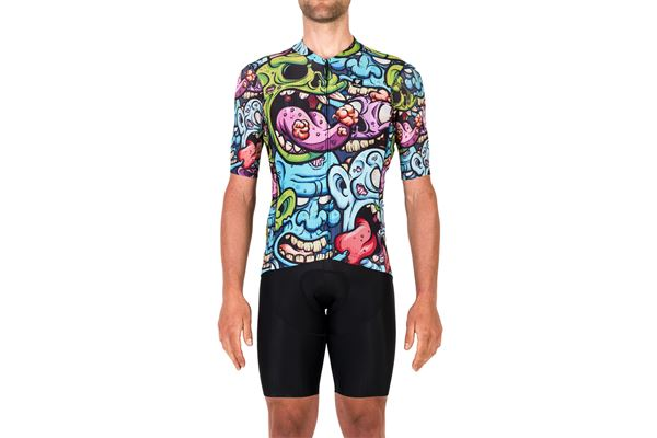 Maglia da Ciclismo Pissei MC Sanremo Cartoon PISSEI | 270000045 | SANJER21CARTOONMONSTER