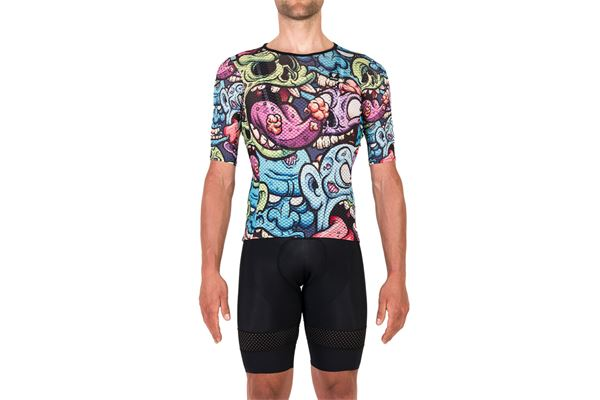 Maglia da Ciclismo Pissei MC Vortice Cartoon PISSEI | 270000045 | VORTICEJER21CARTOONMONSTER