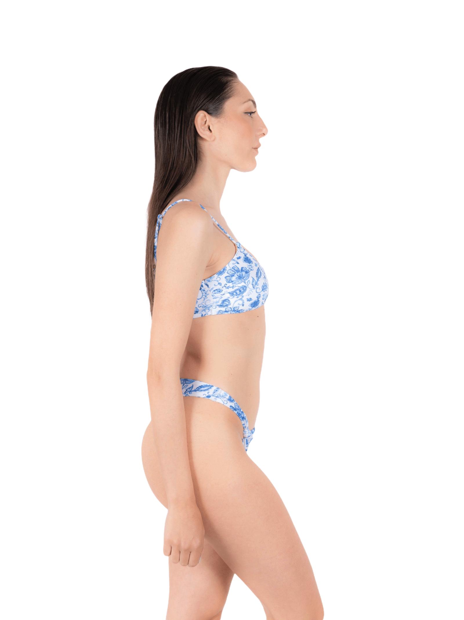 Bikini canotta con slip nodo ANNAMARE   23   BK-107CELESTE