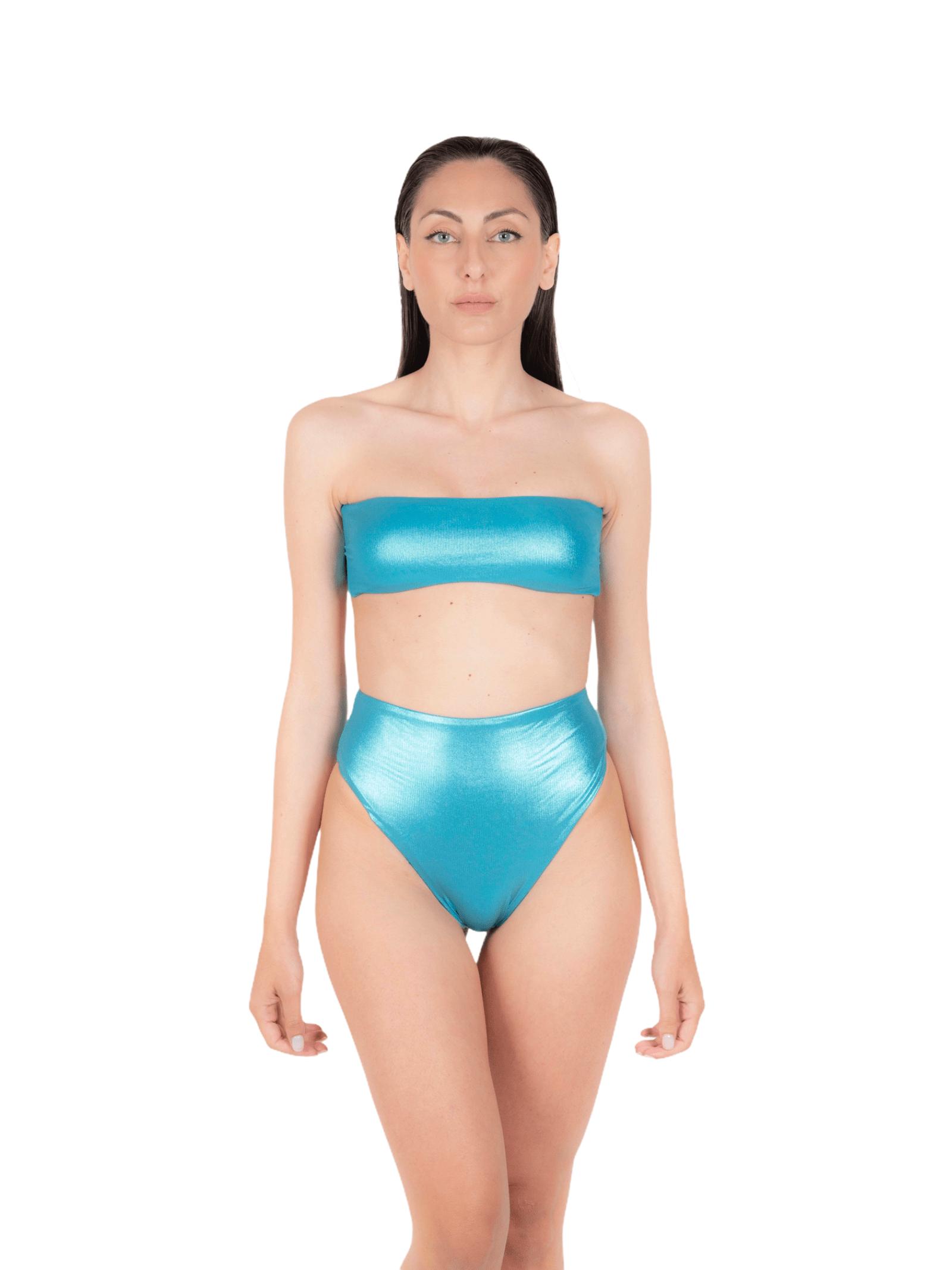 Bikini fascia con slip alto ANNAMARE | 23 | BK-109CELESTE