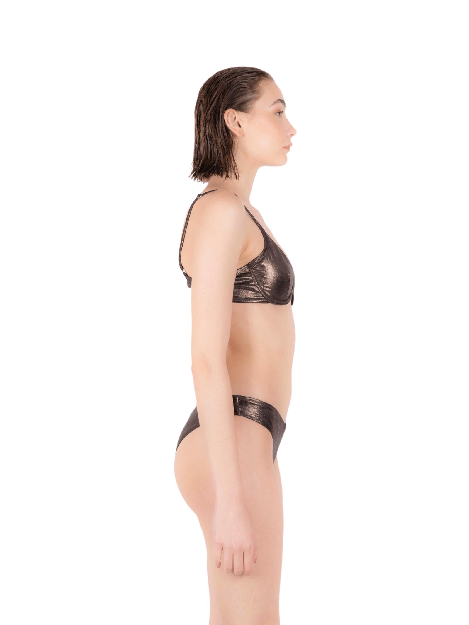 Bikini balconette with slip V ANNAMARE | 23 | BK-111MARRONE