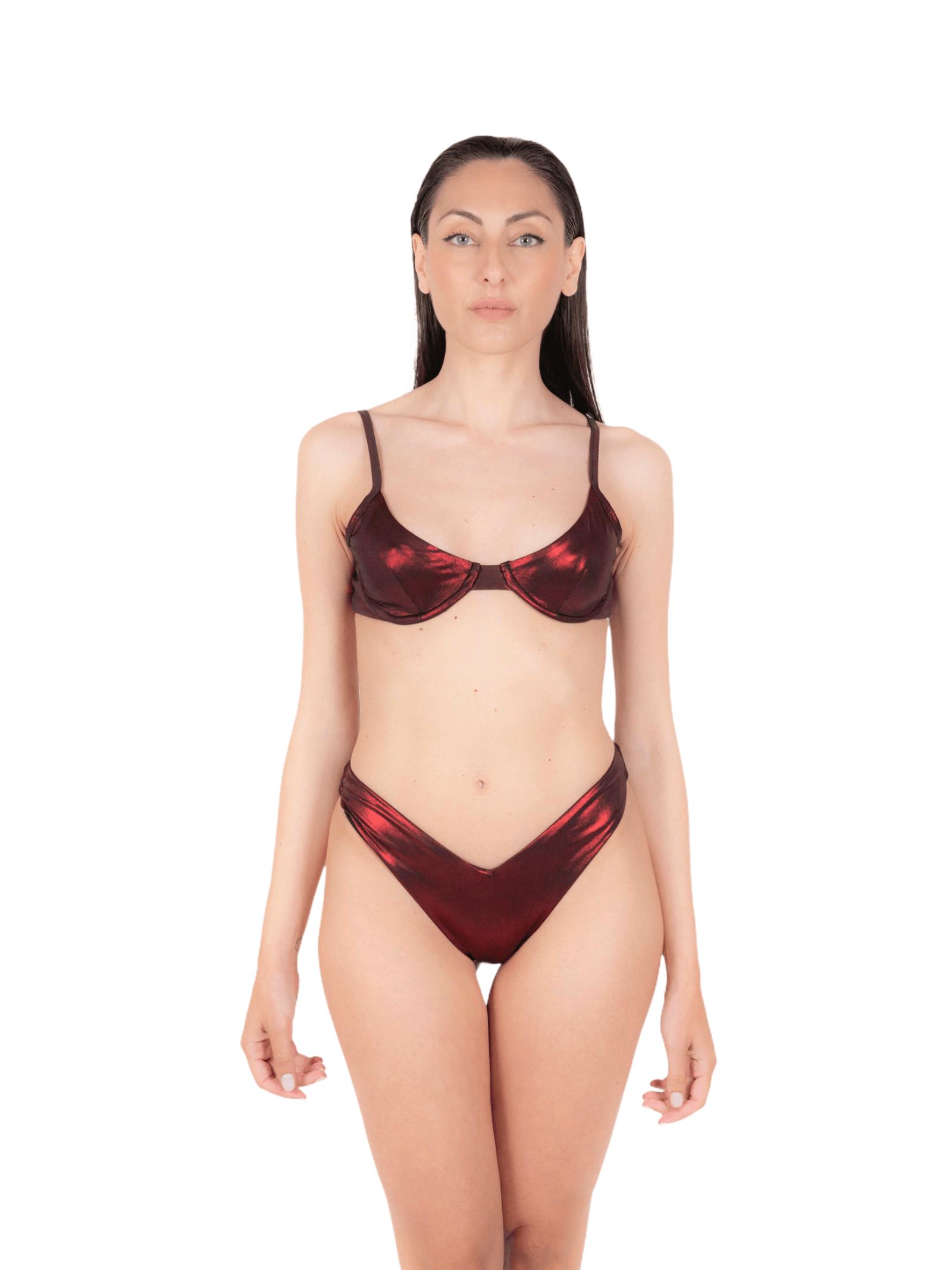Bikini balconette with slip V ANNAMARE | 23 | BK-111ROSSO