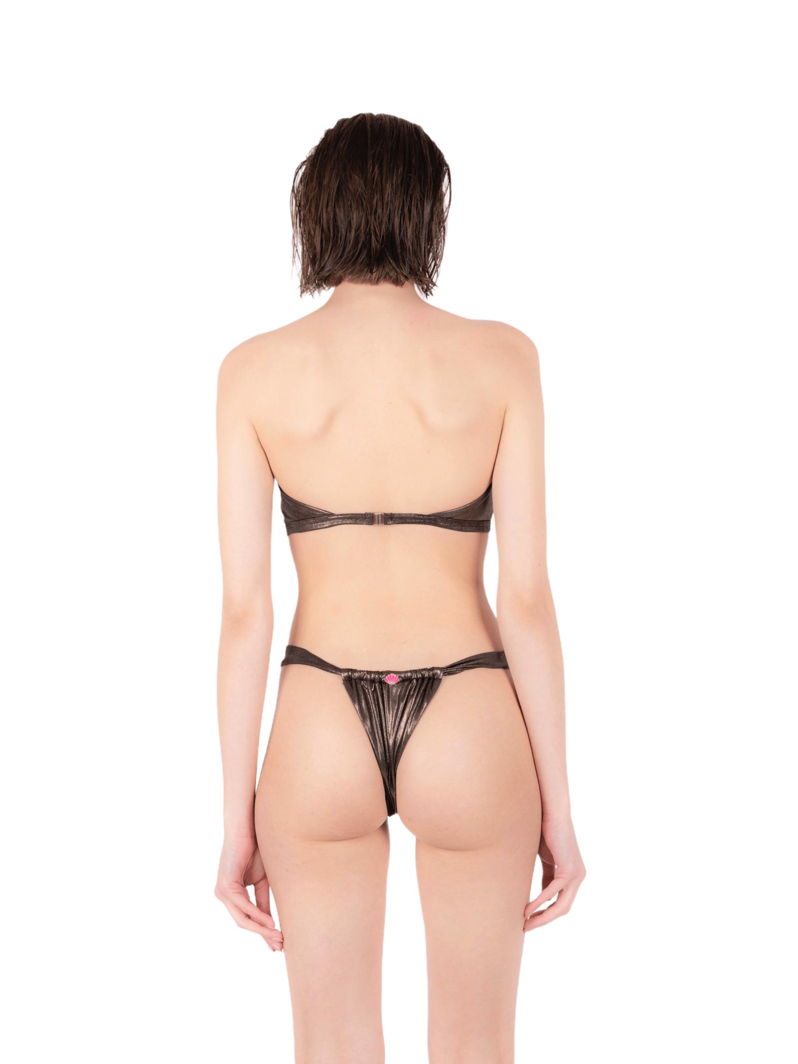 Bikini top with lace slip ANNAMARE | 23 | BK-112MARRONE