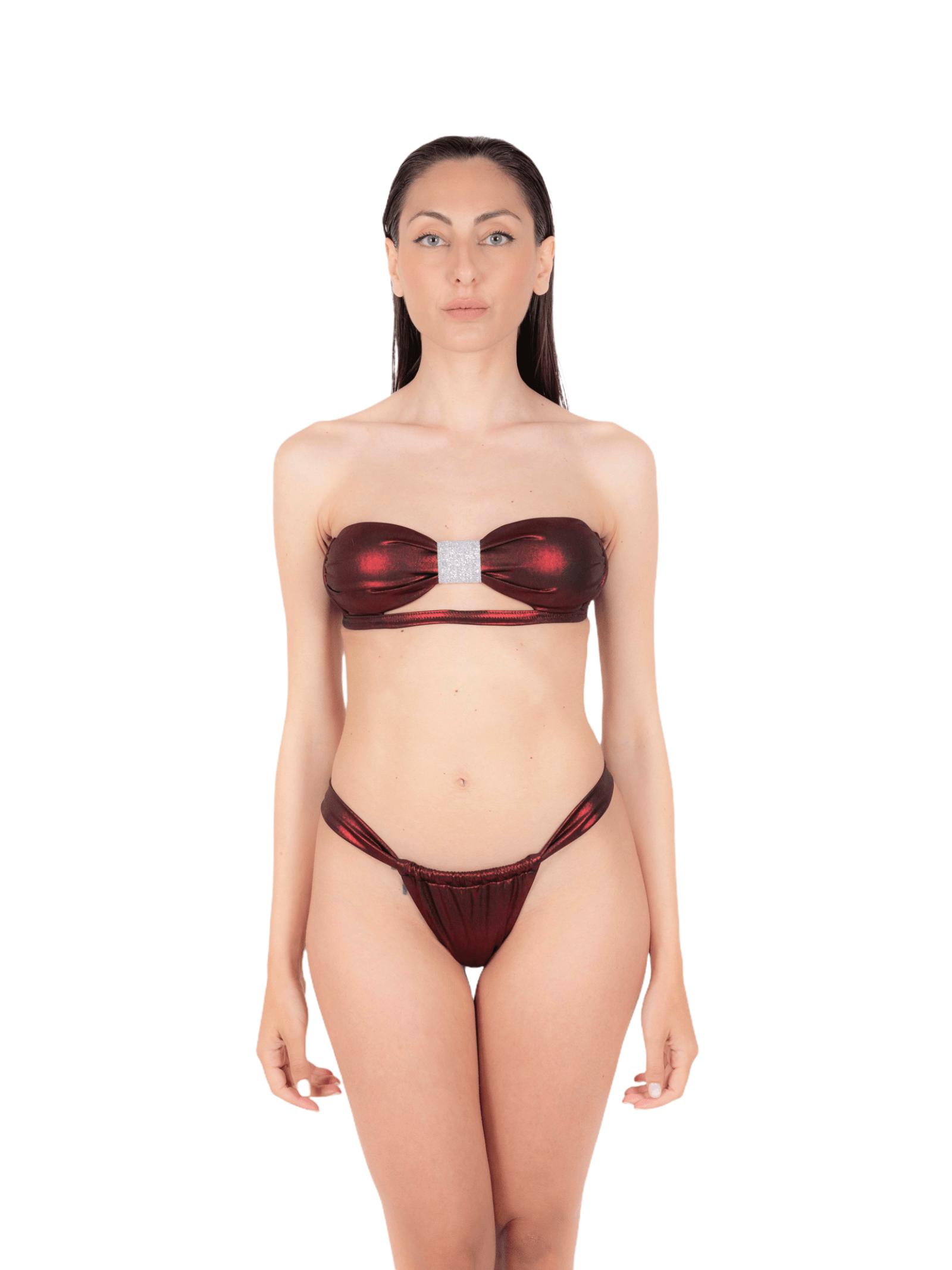 Bikini fascia con slip laccio ANNAMARE | 23 | BK-112ROSSO