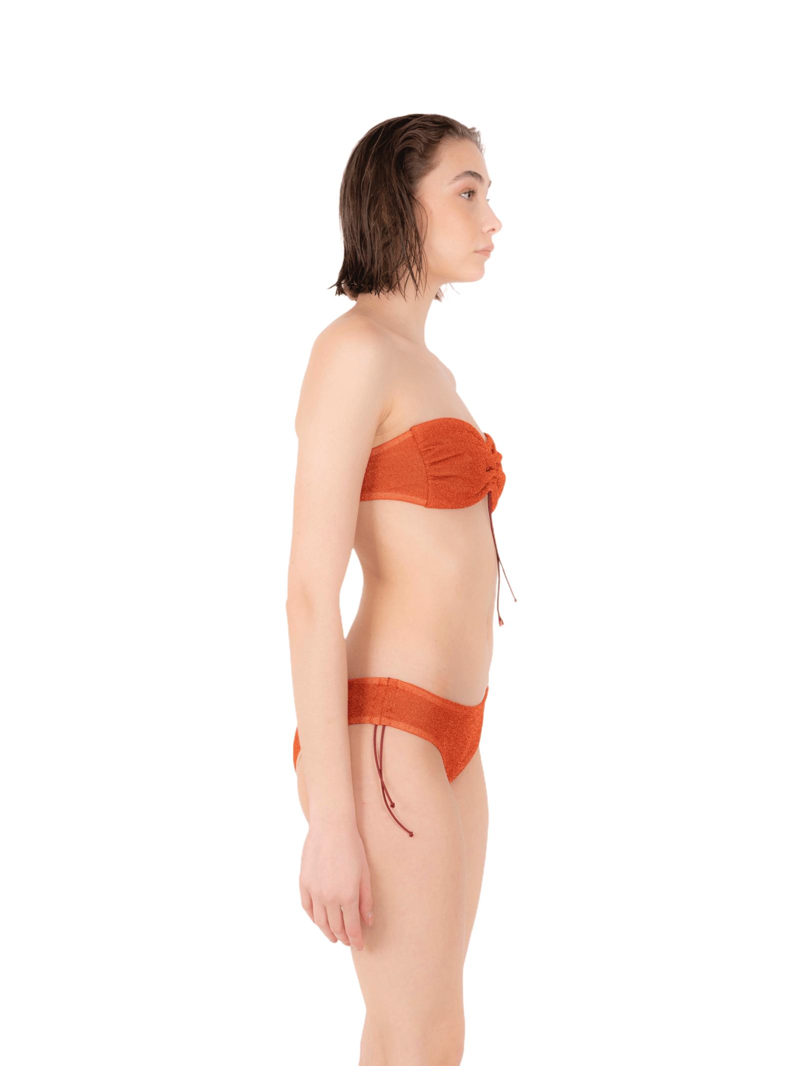Bikini top with drawstring slip ANNAMARE | 23 | BK-114ARANCIONE