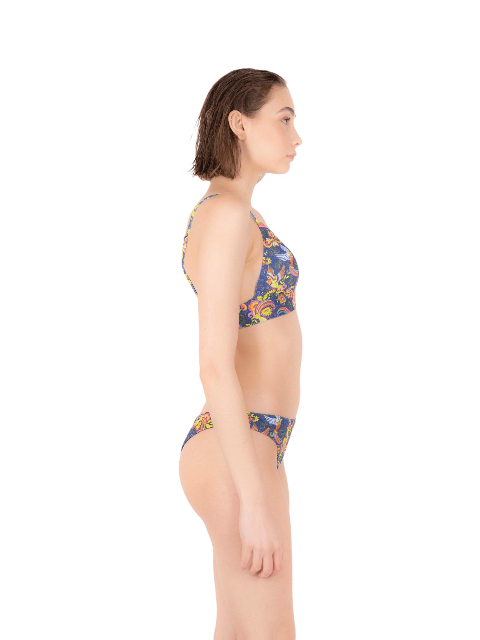 Bikini triangolo elastico con slip brasiliana ANNAMARE   23   BK-118BLU