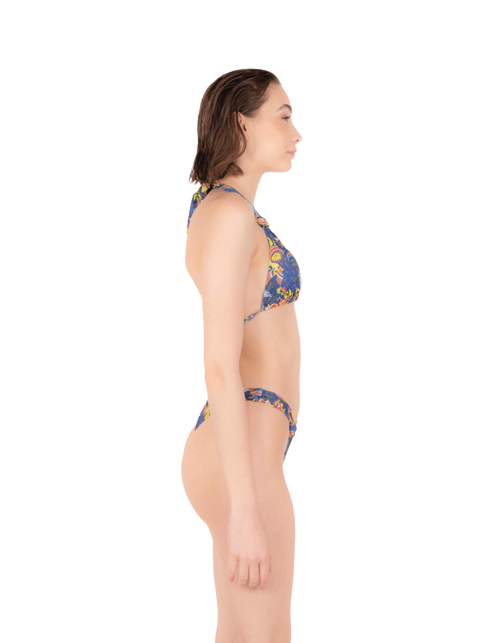 Bikini triangolo con slip nodo ANNAMARE | 23 | BK-119BLU