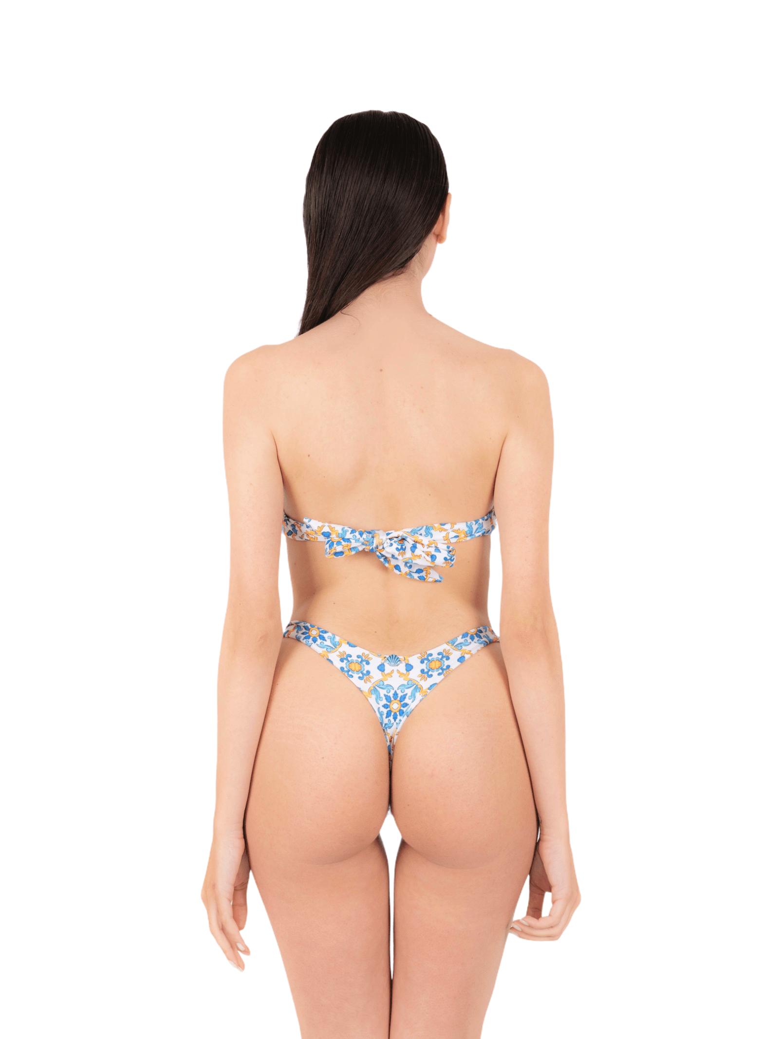 Bikini top shell with thong ANNAMARE | 23 | BK-120BIANCO