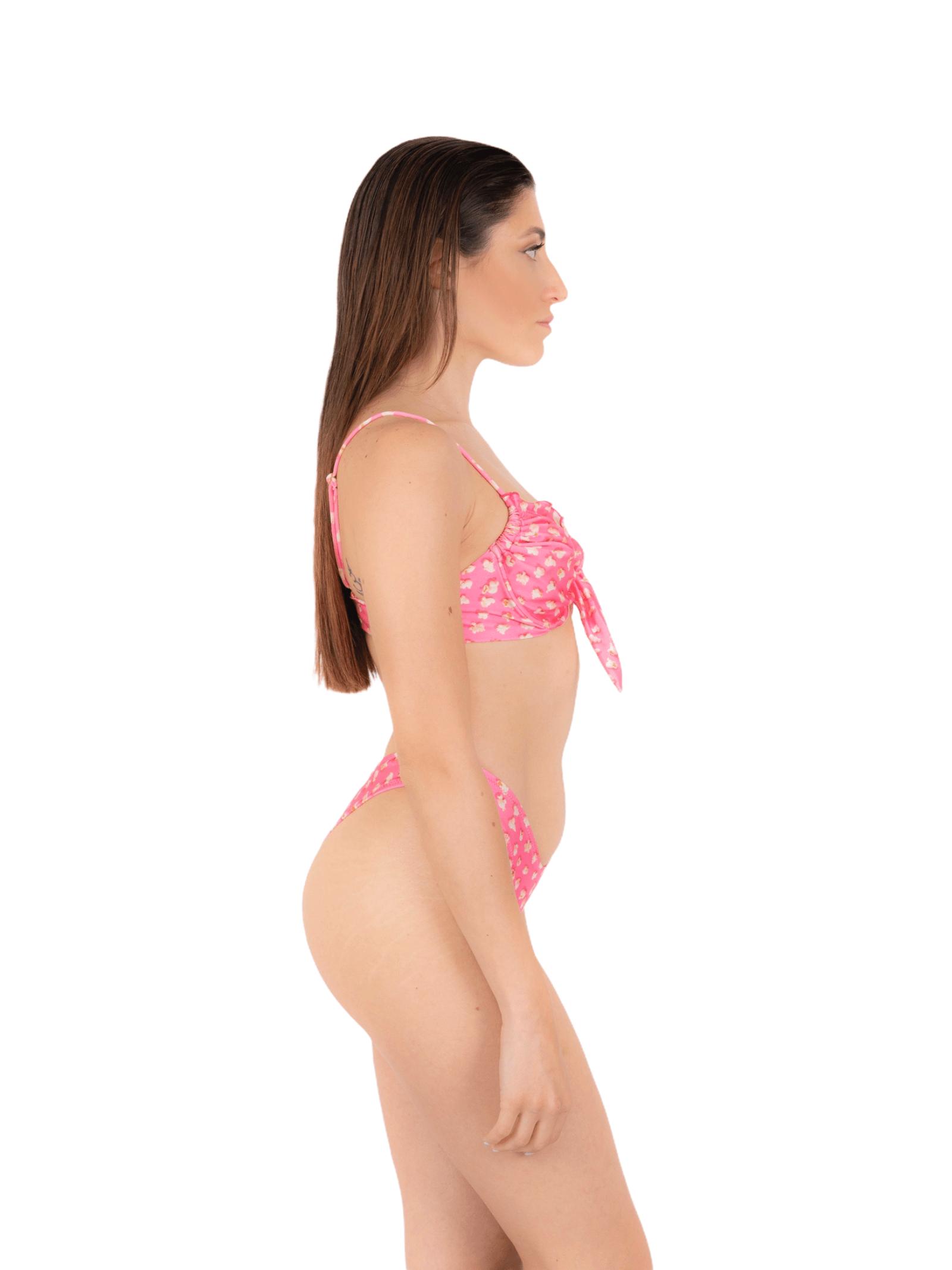 Bikini top with bow V slip ANNAMARE | 23 | BK-122ROSA
