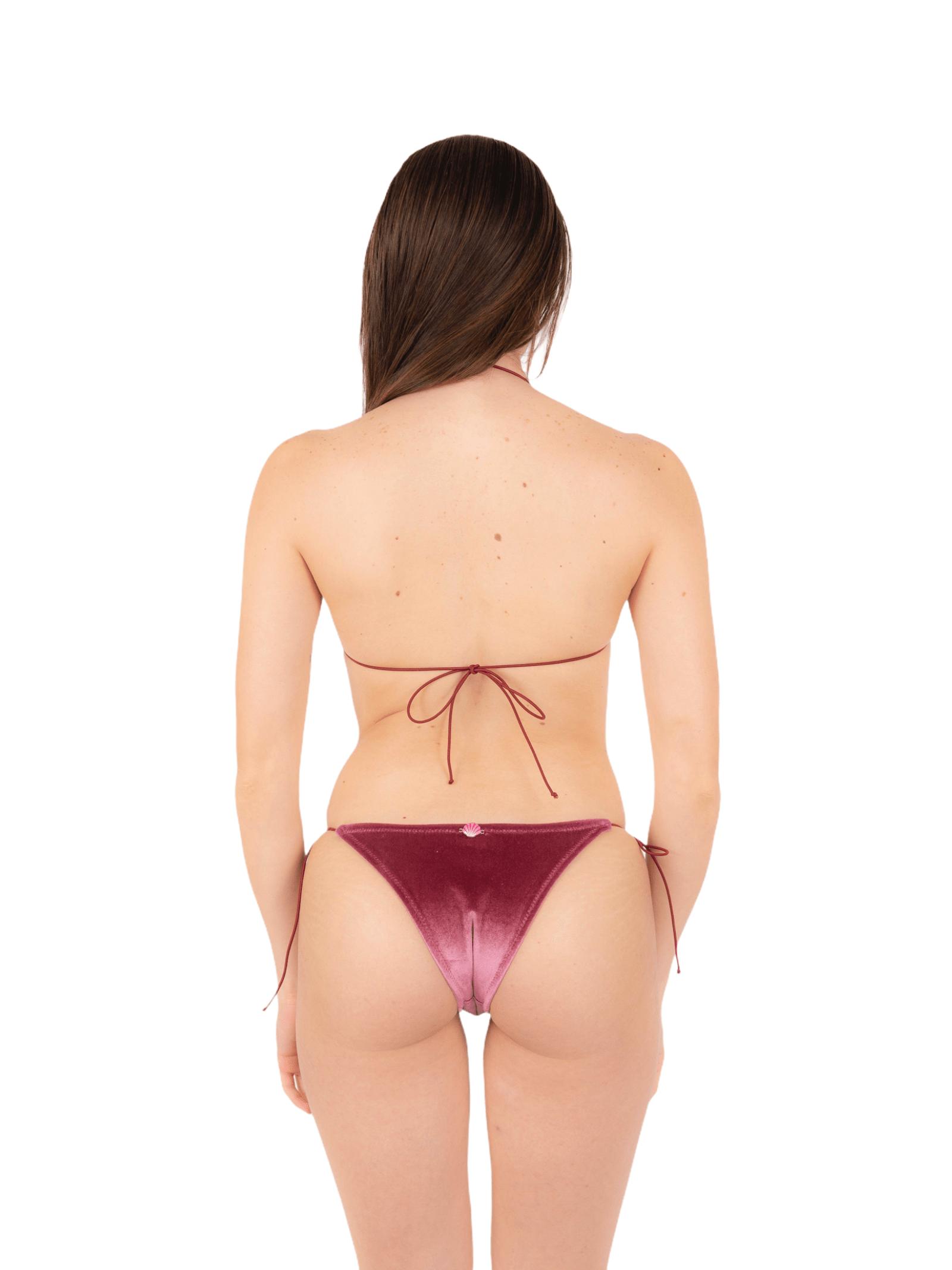 Bikini triangolo con slip fiocco ANNAMARE | 23 | BK-124ROSA