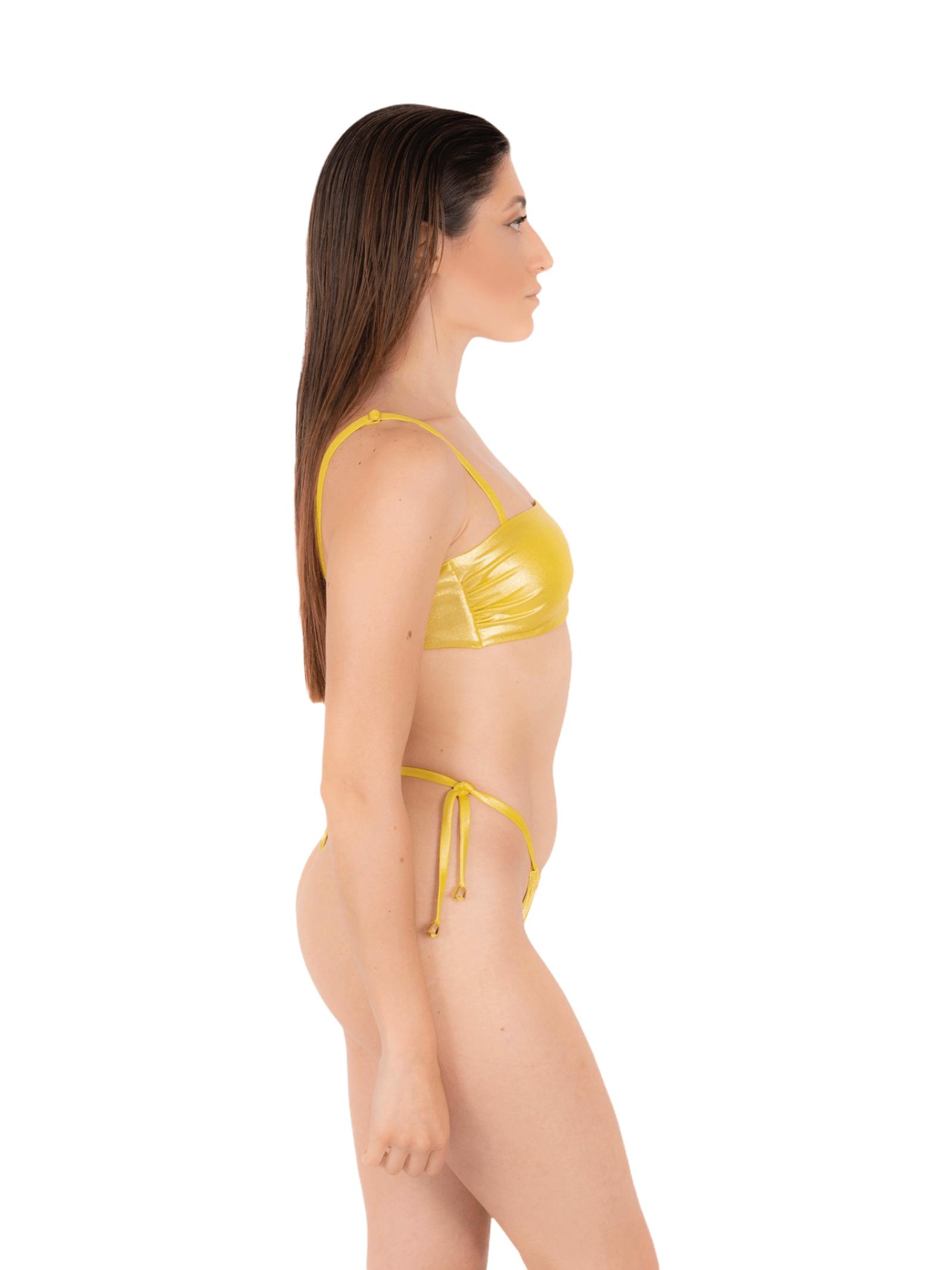 Bikini top with thong slip ANNAMARE | 23 | BK-129GIALLO