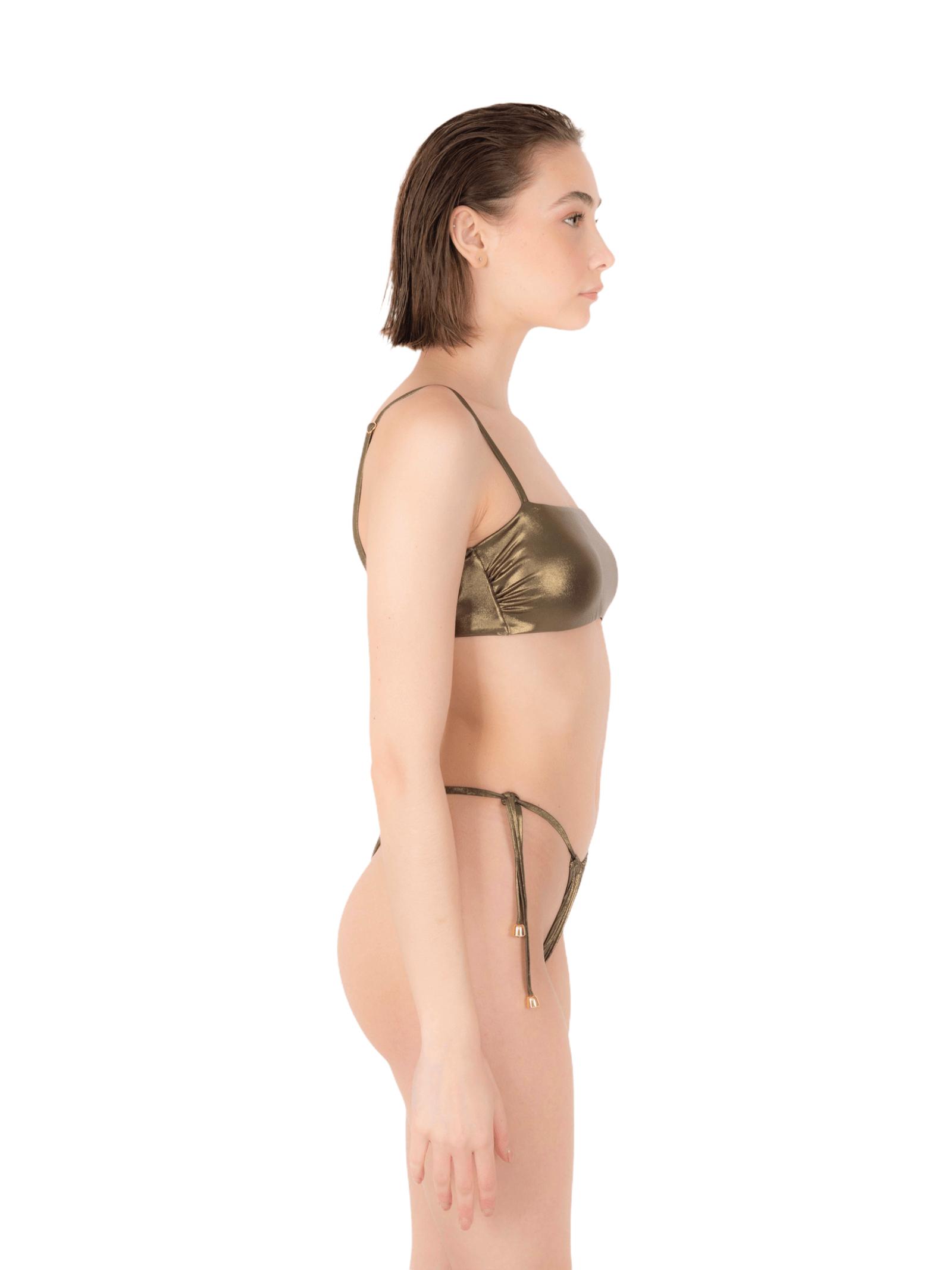 Bikini fascia con slip tanga ANNAMARE   23   BK-129MARRONE