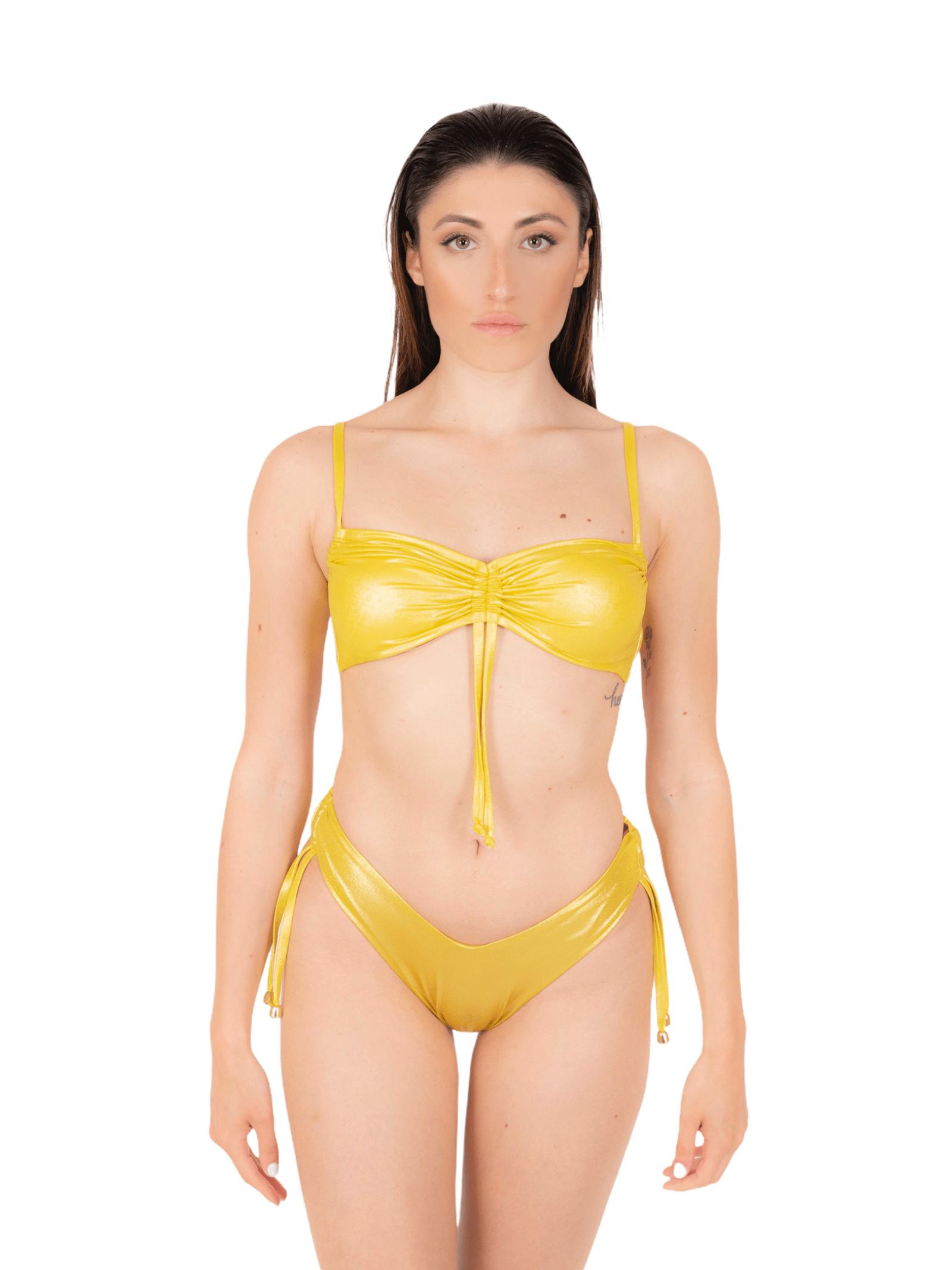 Bikini fascia con slip coulisse ANNAMARE | 23 | BK-130GIALLO