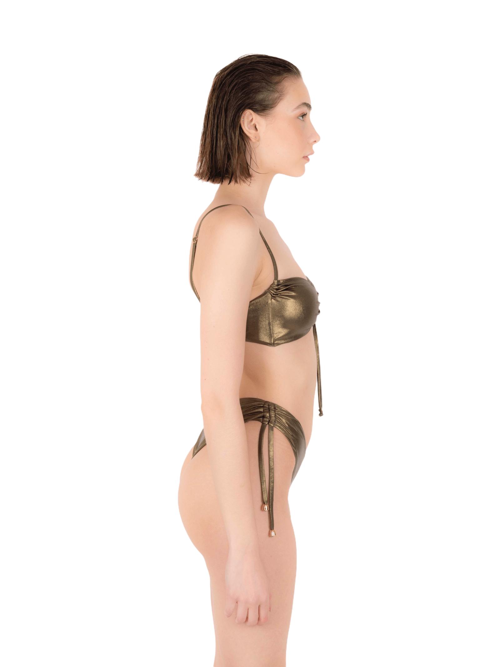 Bikini top with drawstring slip ANNAMARE   23   BK-130MARRONE