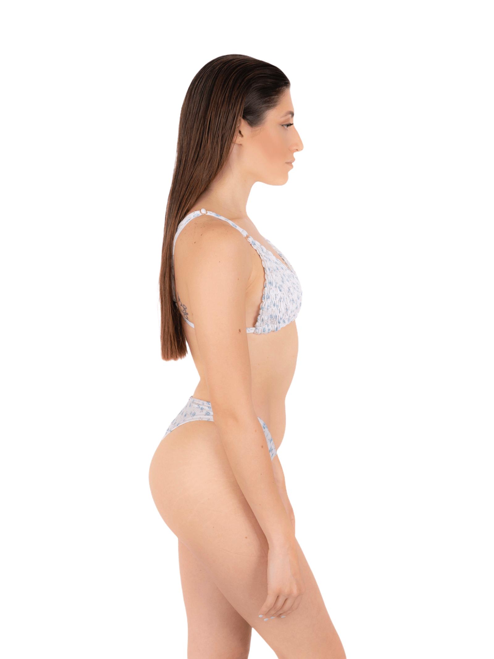 Bikini gathered triangle with slip V ANNAMARE | 23 | BK-131BIANCO