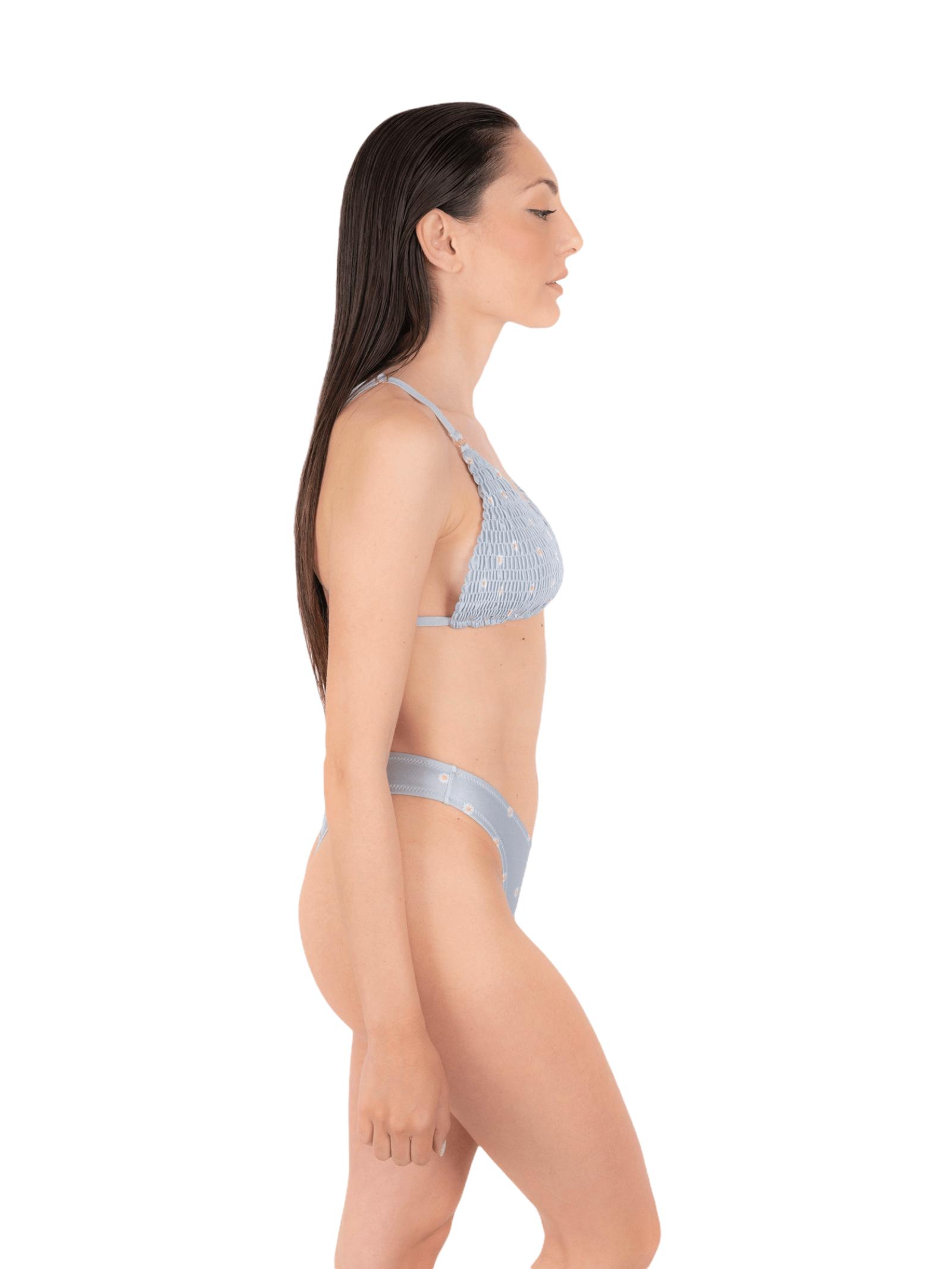 Bikini triangolo arriccio con slip V ANNAMARE | 23 | BK-131CELESTE