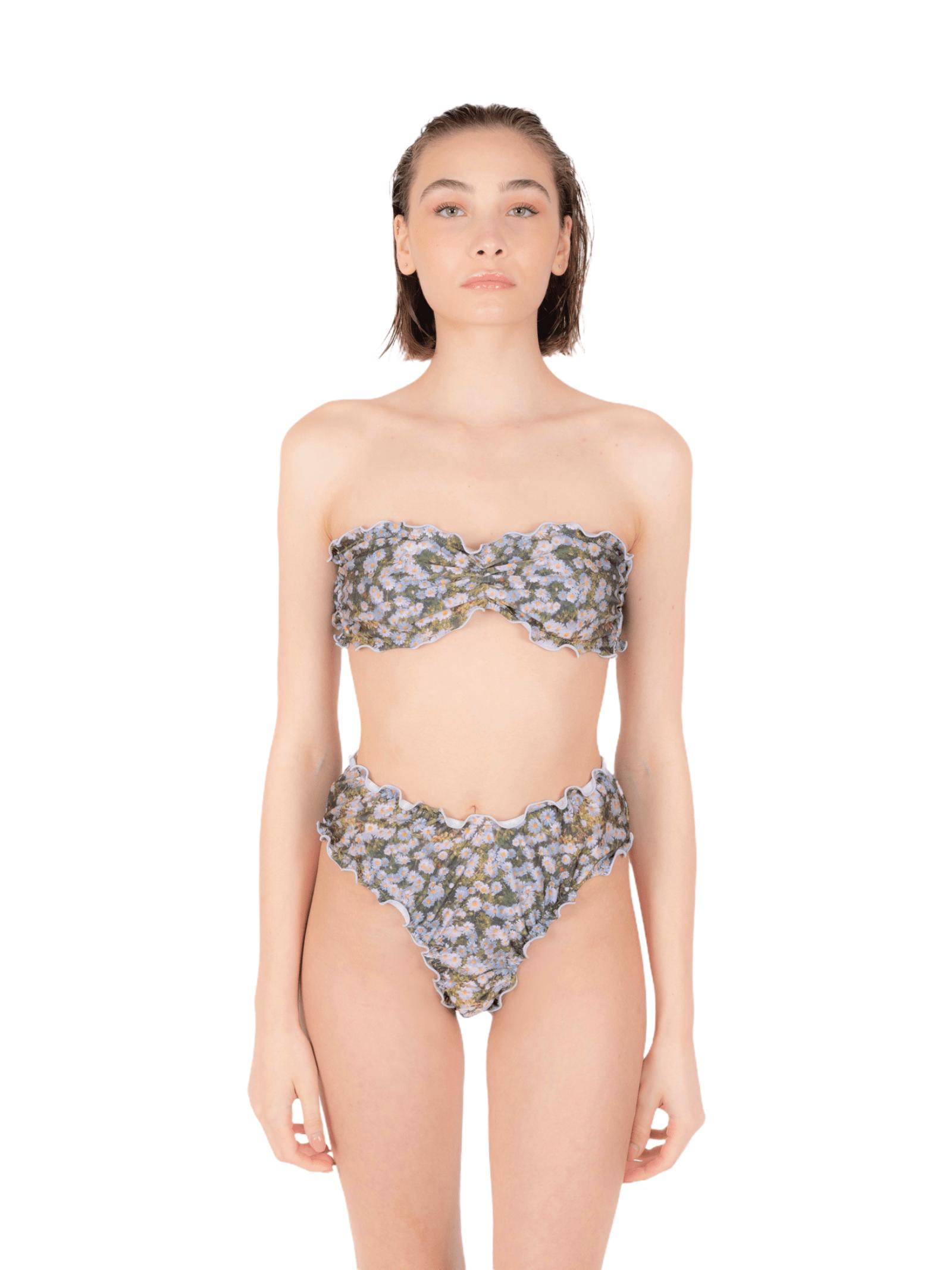 Bikini top with slip V ANNAMARE | 23 | BK-132VERDE