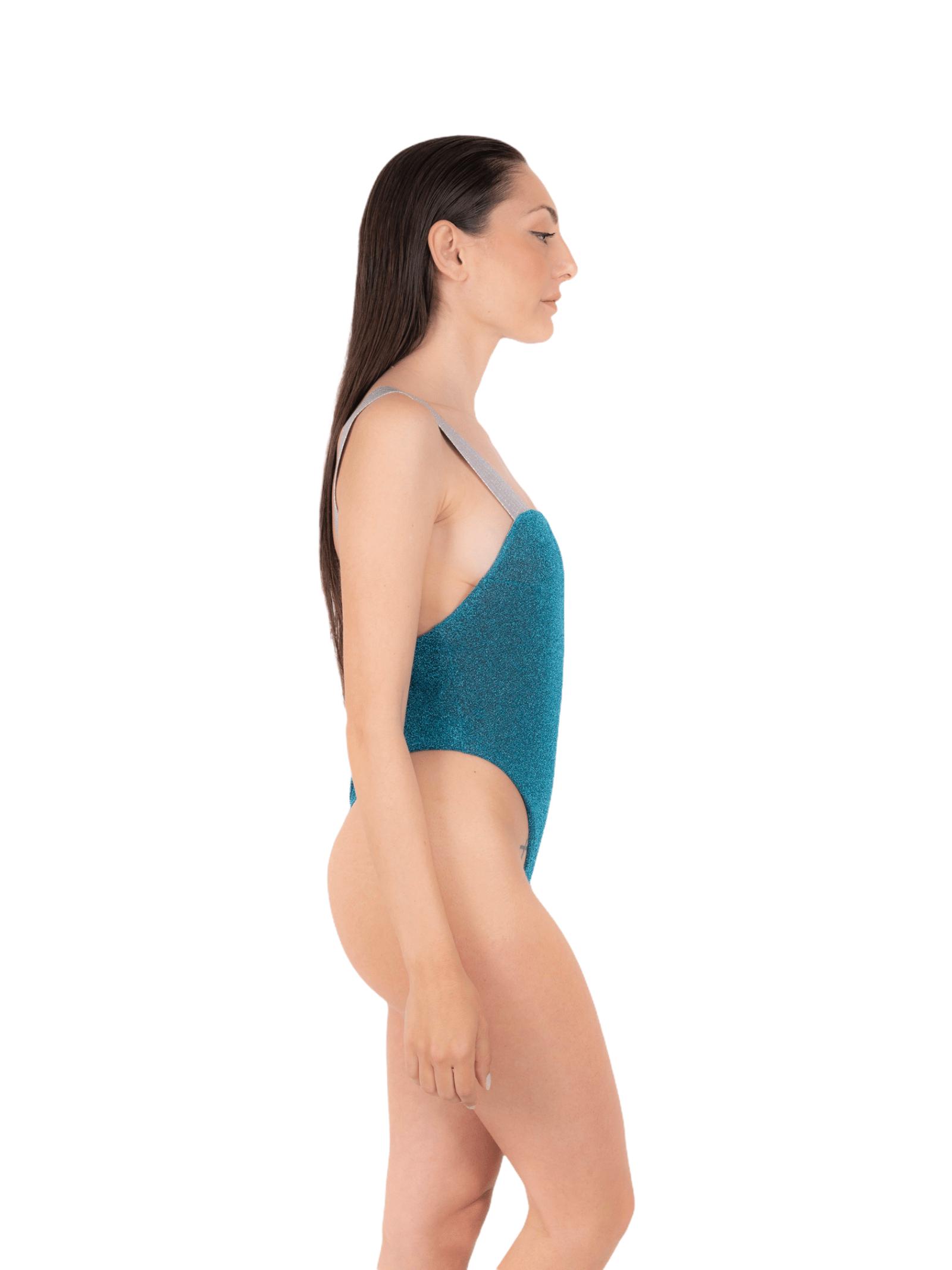 Swimsuit with glitter elastic ANNAMARE | 5032240 | IN-503BLU