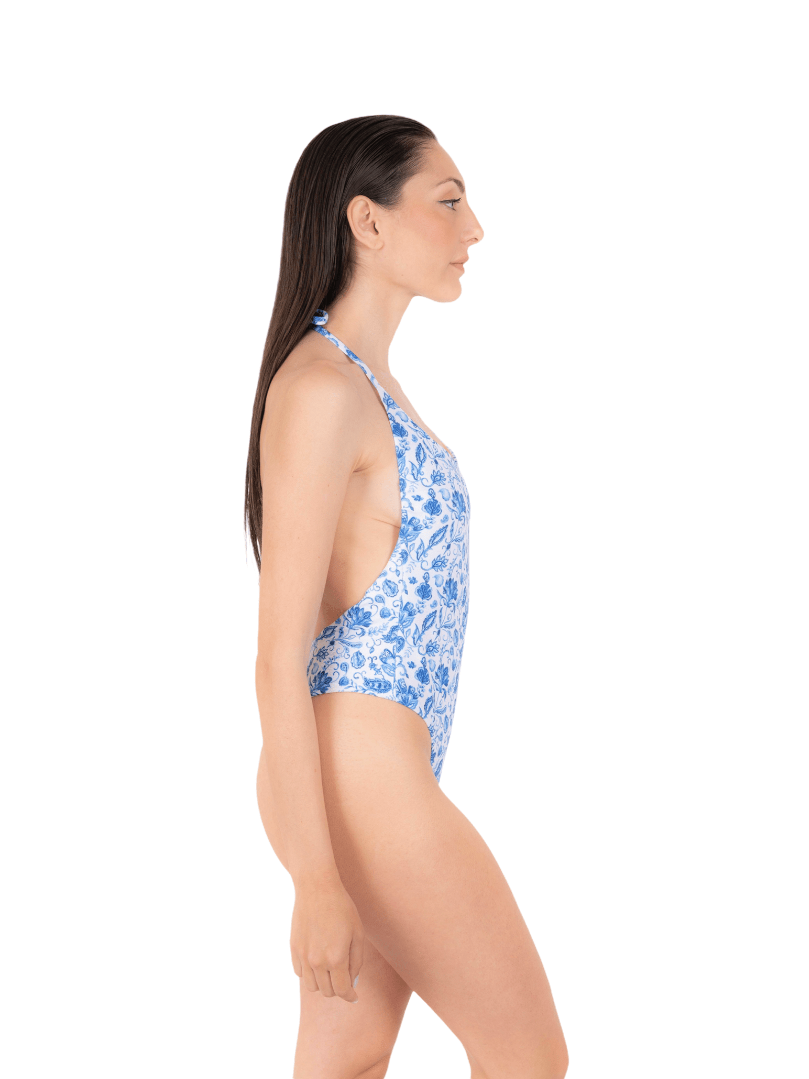 Swimsuit with high leg laces ANNAMARE   5032240   IN-504CELESTE