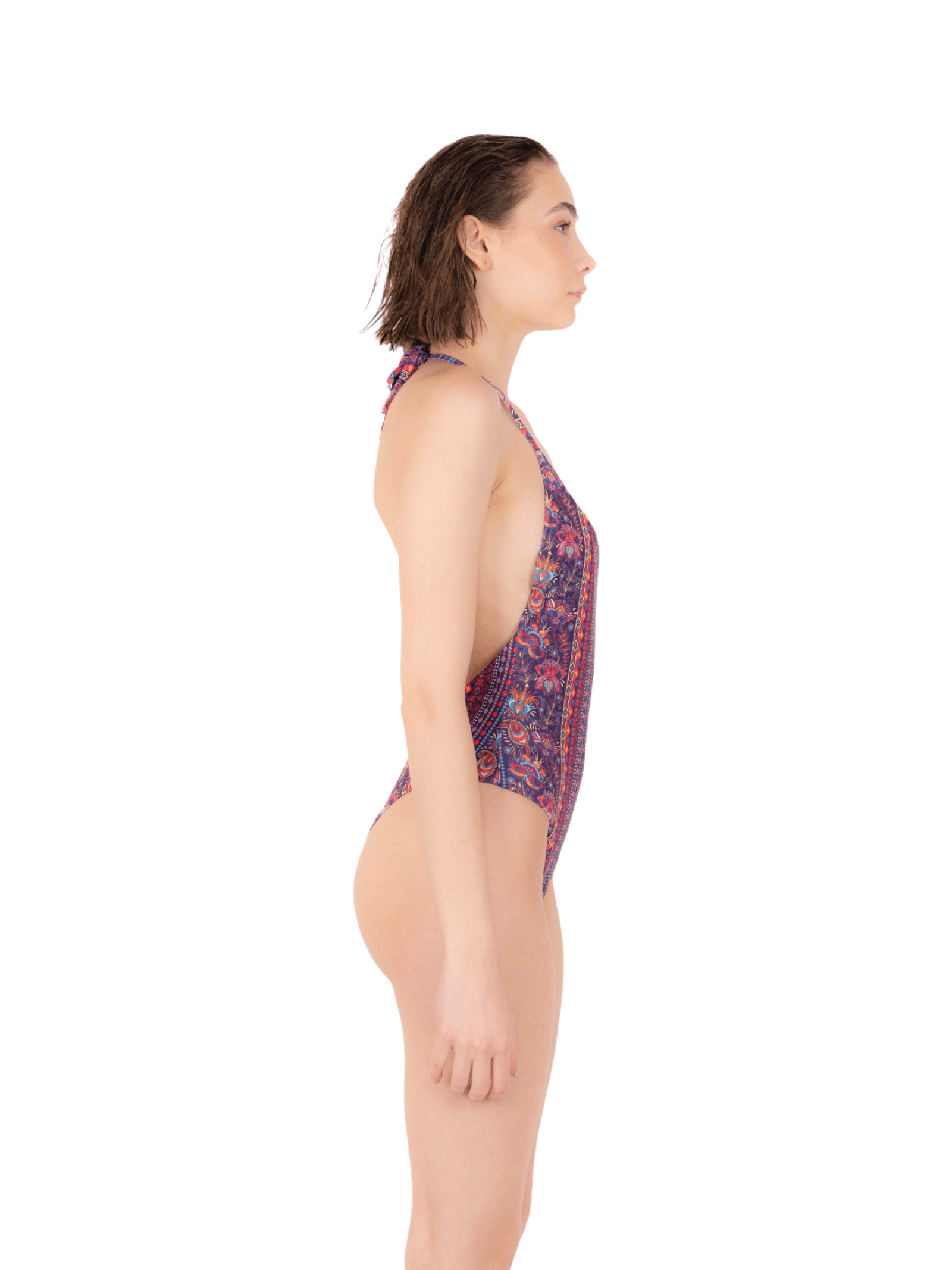 Swimsuit with high leg laces ANNAMARE | 5032240 | IN-504ROSA