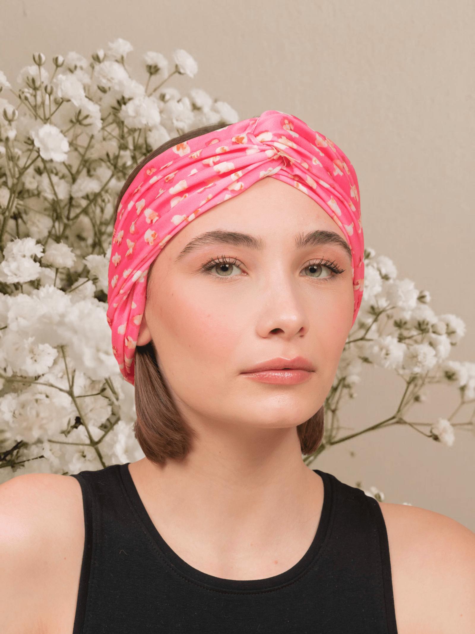 Patterned turban ANNAMARE | 5032238 | TU-801ROSA