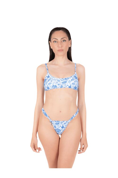 Bikini tank top with knot slip ANNAMARE | 23 | BK-107CELESTE