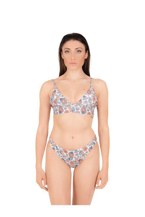 Bikini triangolo elastico con slip brasiliana ANNAMARE | 23 | BK-118BIANCO