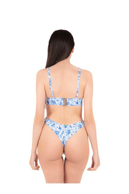 Bikini triangolo elastico con slip brasiliana ANNAMARE | 23 | BK-118CELESTE