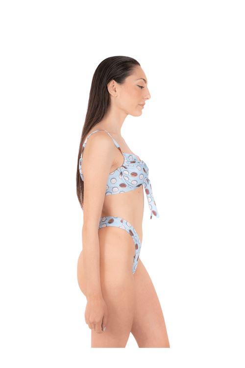 Bikini top with bow V slip ANNAMARE | 23 | BK-122CELESTE
