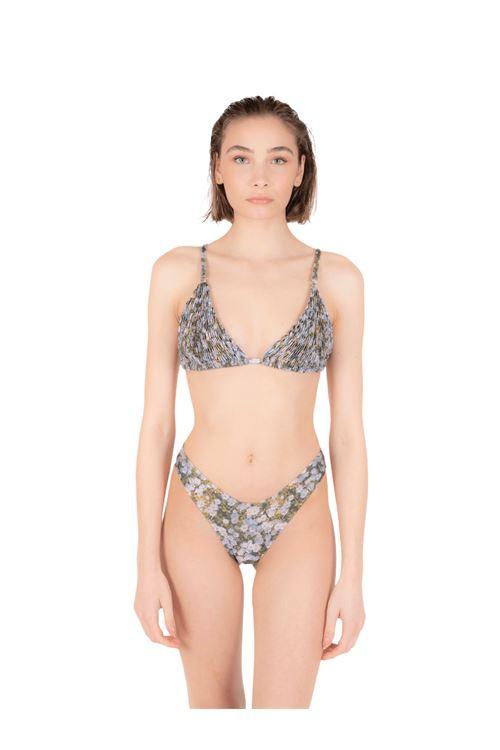 Bikini triangolo arriccio con slip V ANNAMARE | 23 | BK-131VERDE