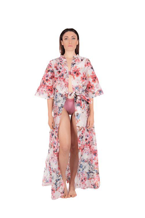 Long resort wear in cotton ANNAMARE | 5032236 | FA-705ROSA