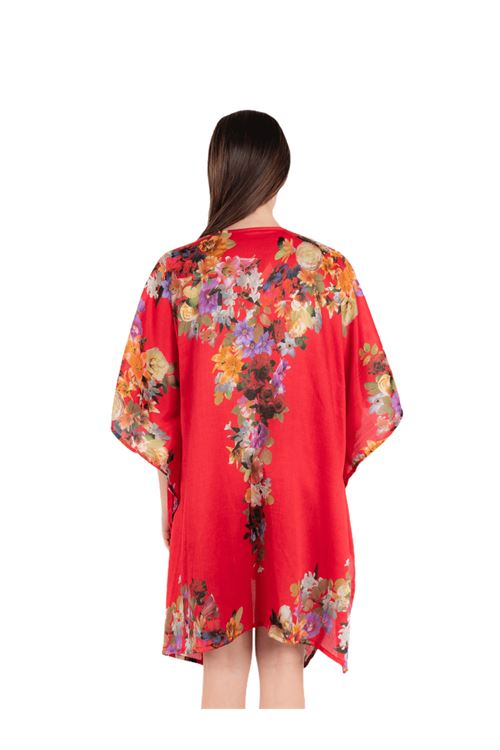 Short resort wear with sleeve ANNAMARE | 5032236 | FA-708ROSSO