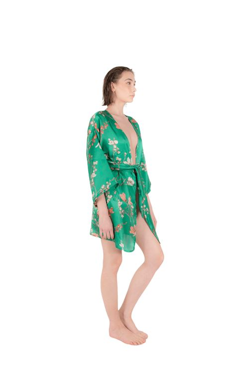 Resort wear kimono with belt ANNAMARE | 5032236 | FA-710VERDE
